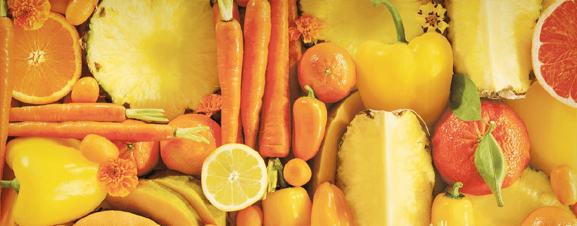 Оранжевое меню для идеального загара